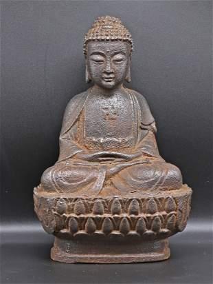 China Qing dynasty. 1700/1800 Bronze Buddha 1,1 kg-20