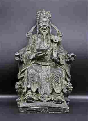 China Impressive bronze Confucius statue 1880-1905 2,4