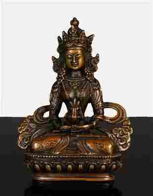 China Min Guo period Bronze buddha statue