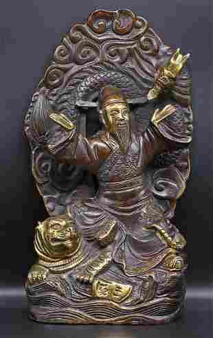 China. 1970 Confucius bronze 1,7 Kg. - 26cm