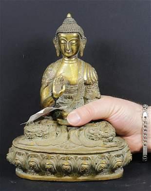 Tibet Shakyamuni Buddha bronze statue 1800 720 gr-16 cm