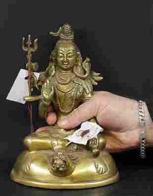 Nepal 1950 AD Shiva bronze statue 21 cm - 1,7 kg