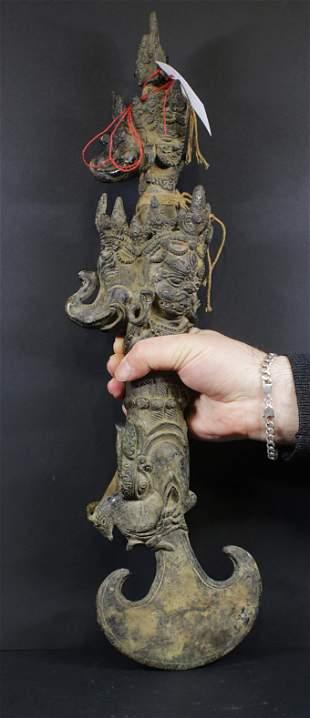 Tibet 1850AD Vajrayana Buddhism Kartika Axe 3,4 kg -