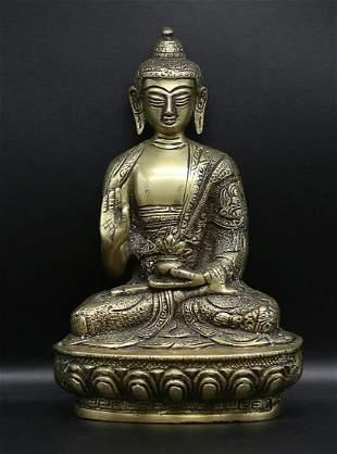 Tibet 1950 AD Buddha statue 1.6 Kg. – 21 cm