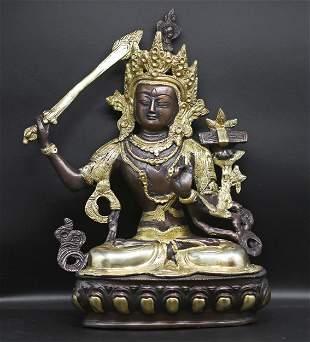 Tibet 1950 Manjushri Buddha 3.6 Kg. – 31 cm