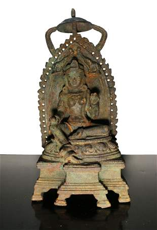 China Qing Dynasty 1800 AD Heavy Iron Guanyin temple