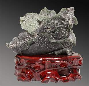 China Min Guo period 1920 Natural handcarved Hetian
