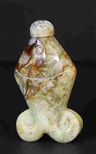 Ching Dynasty 1905 AD Jade snuff bottle 65 mm. - 60 gr.