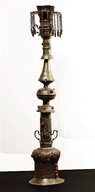 Ottoman Empire. 1910 Brass Nargile \ Hookah water pipe