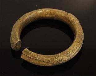 Nigeria Igbo people Bronze manilla bracelet 1900 circa
