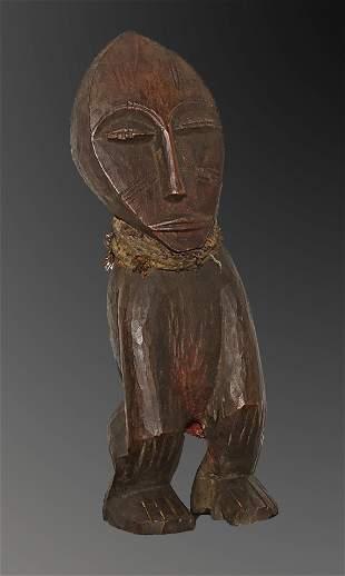 Mali 1950 Old Tribal Bambara people Figure Wooden