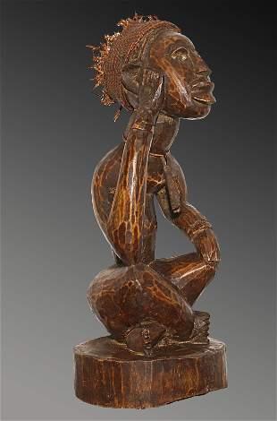 Congo 1960 Bakongo people Ceremonial wooden Male statue