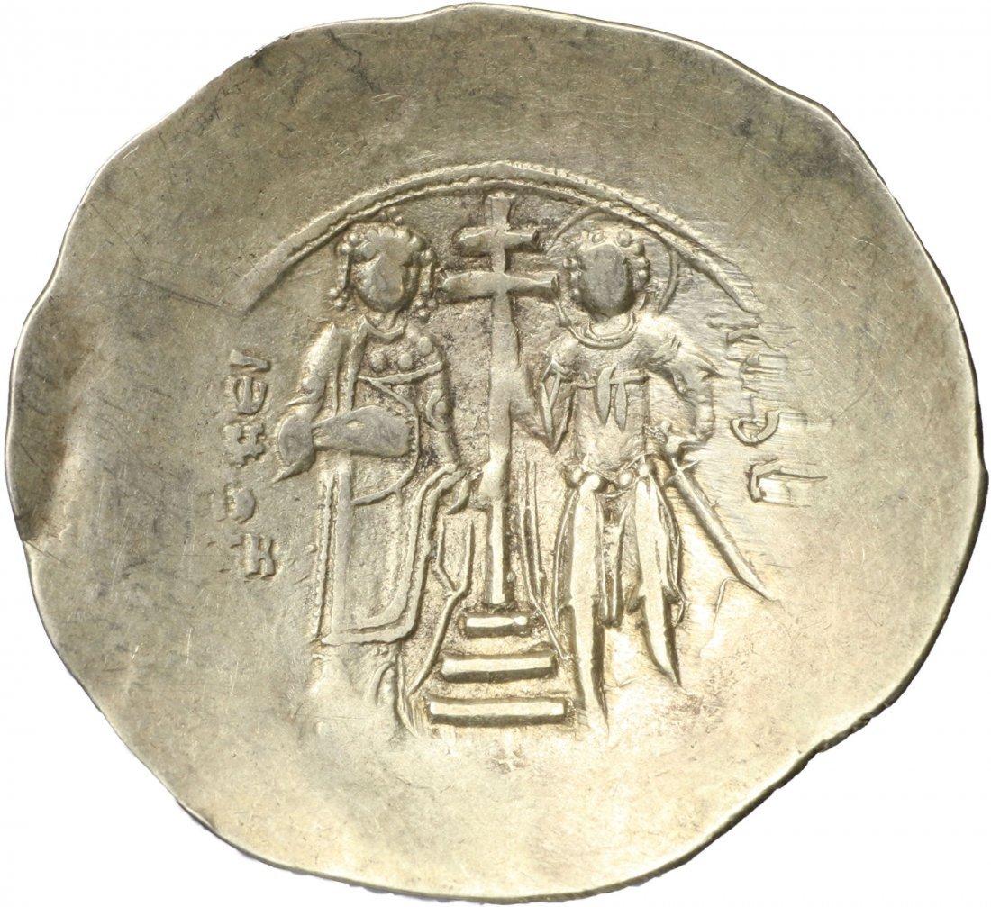 JOHN II COMNENUS ELECTRUM ASPRON TRACHY BYZANTINE COIN