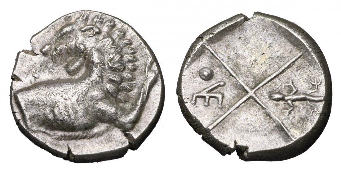 THRACE Chersonesos. AR Hemidrachm 386-338 BC GREEK COIN