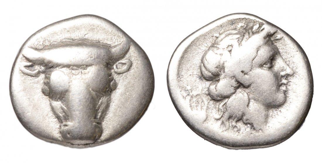 PHOCIS 352-351 BC AR Hemidrachm Strategos Phayllos coin