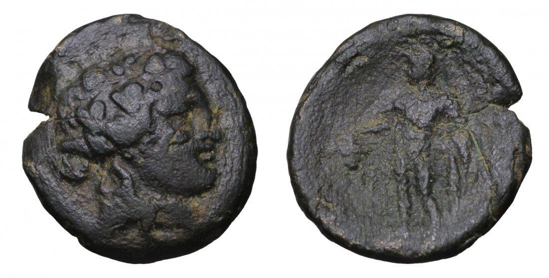MARONEIA. 400-350  BC. AE Unit. Head of Dionysos coin