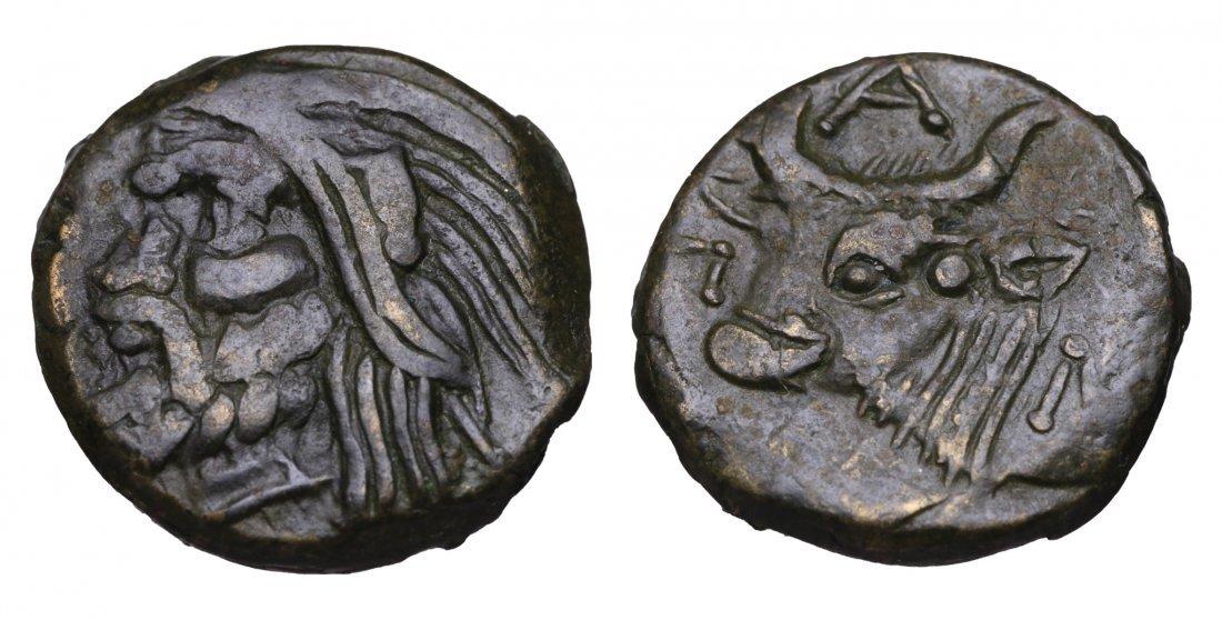 CIMMERIAN BOSPOROS Pantikapaion AE Unit after 280 BC