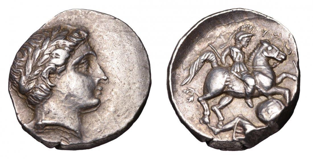 KINGDOM OF PAEONIA Patraos 340-315 BC AR Tetradrachm