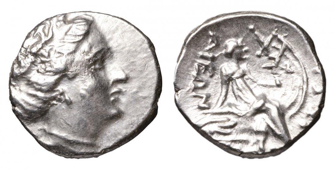 EUBOEA HISTIAIA. 340-330 BC. AR Tetrobol. greek coin