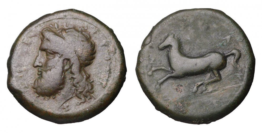 SICILY Syracuse Timoleon344-317 BC. AE Dilitron.