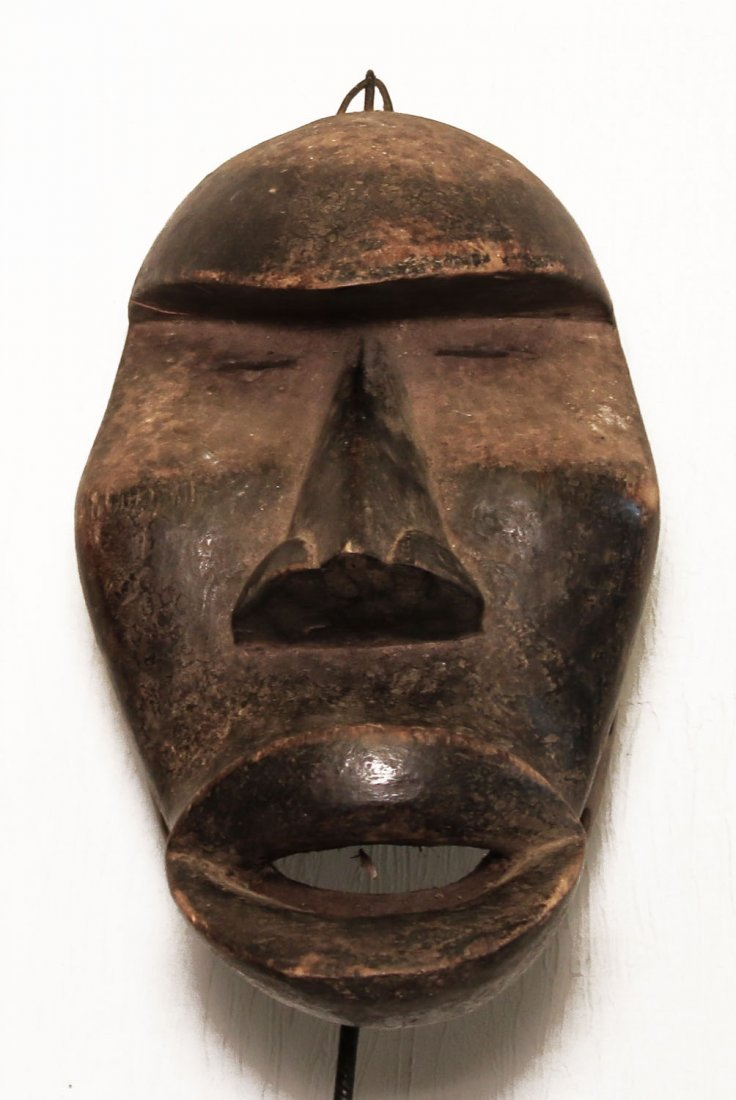 OLD CARVED WOOD MASK KHRAN PEOPLE 32cm-13""