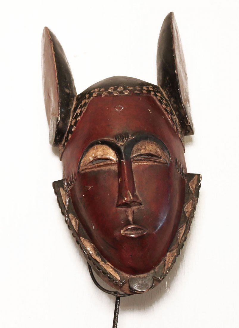 OLD CARVED WOODEN MASK DJIMIMI PEOPLE 40 cm 16""