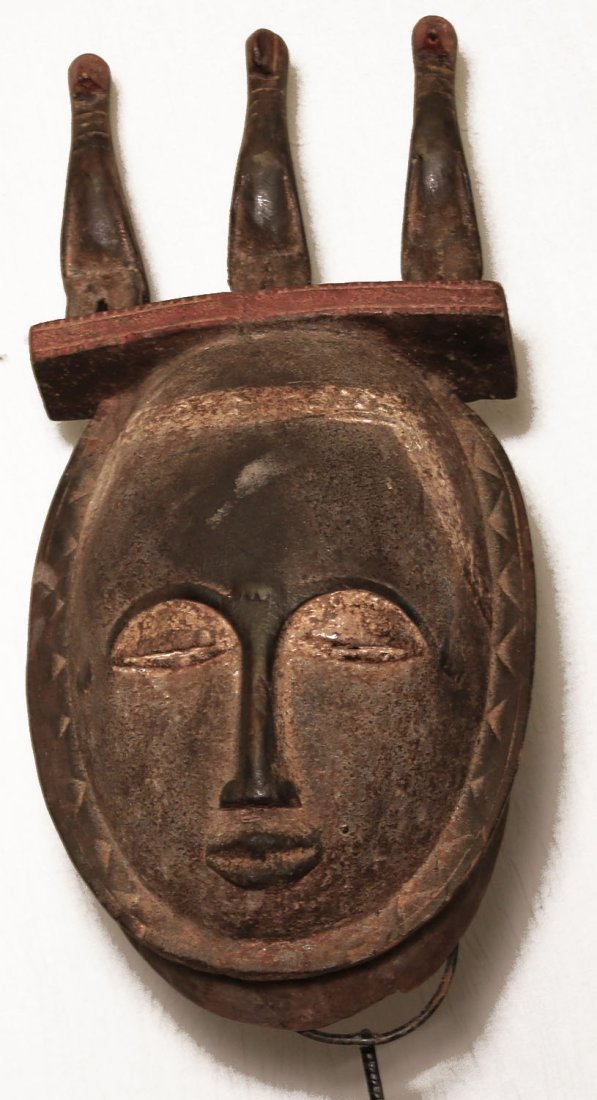 OLD CARVED WOODEN MASK DJIMIMI PEOPLE 42cm 16""