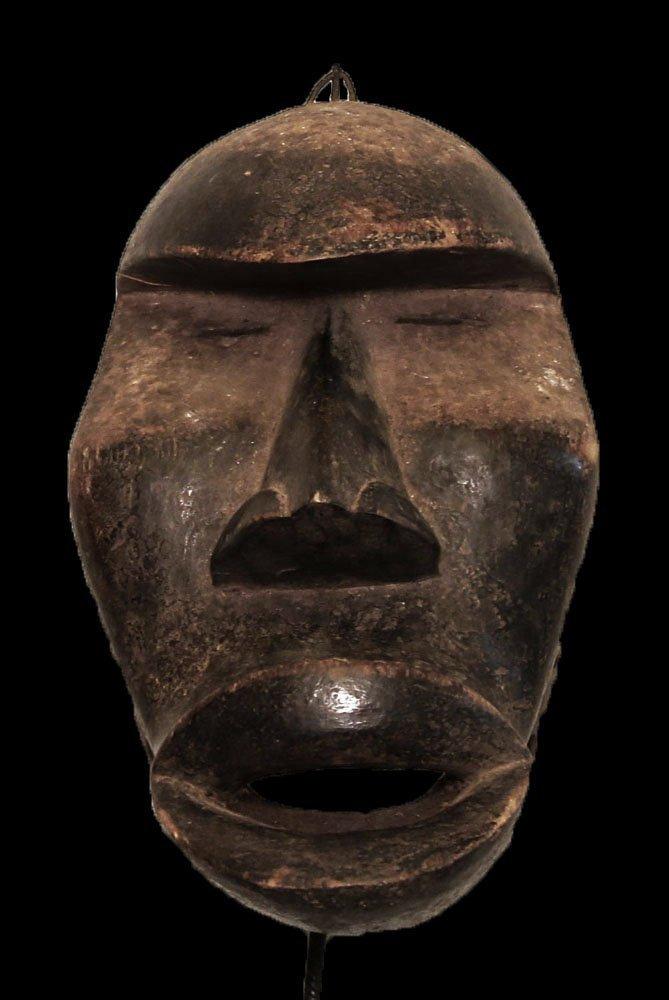 "OLD CARVED WOOD MASK KHRAN PEOPLE 32cm-13"""