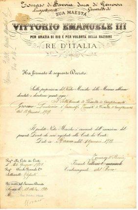 Document 1919 Signature Of Tomaso Di Savoia