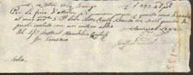 Ancient Payment Receipt 1789 Republic Of Venice.