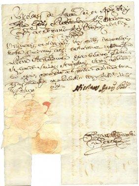 Naples 1764 License Signature General L De Tschoudy