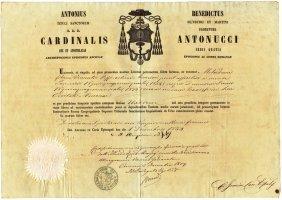 Ancona 1859 Cardinal Antonucci Papal Consulate Naples