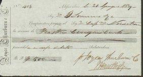 Check Of Alexandria Egypt 1839