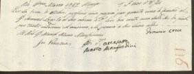 Ancient Payment Receipt 1787 Republic Of Venice.
