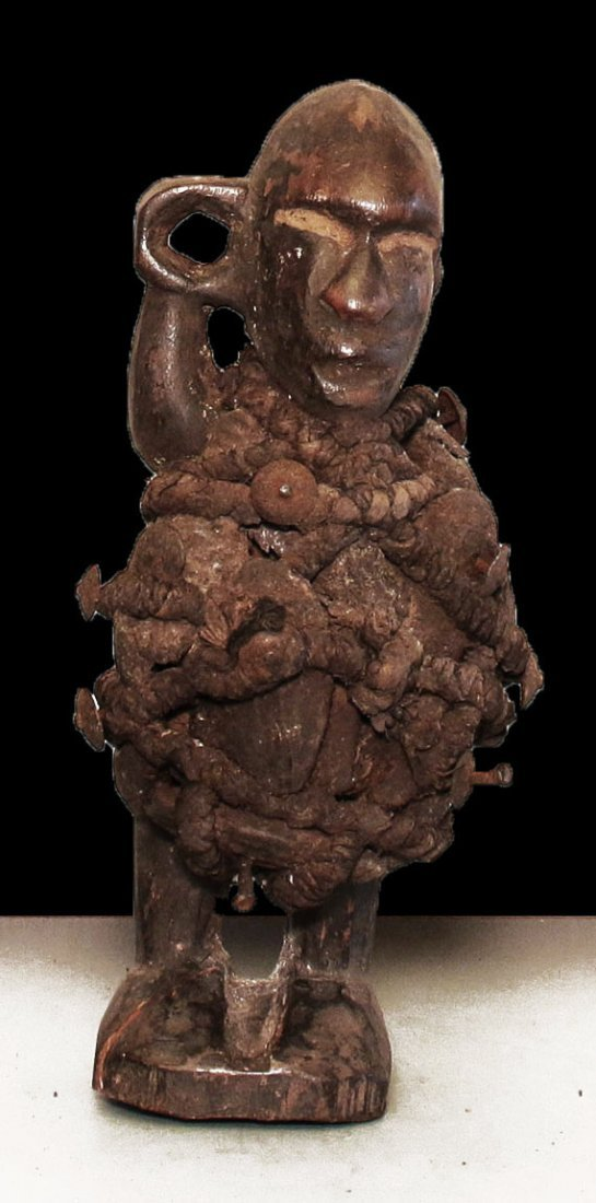 OLD CARVED FETISH STATUE BAKONGO VERY RARE