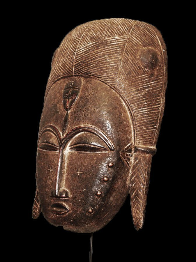 A fine Baulè people Wall mask 19 inch - 3