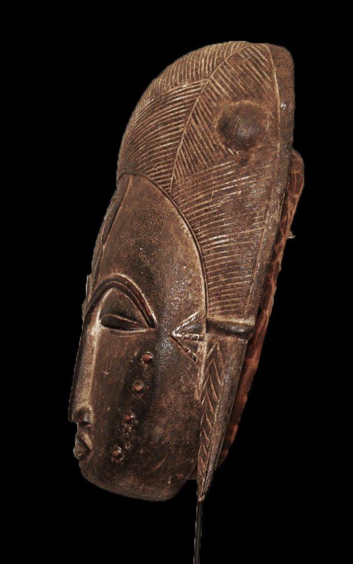 A fine Baulè people Wall mask 19 inch - 4