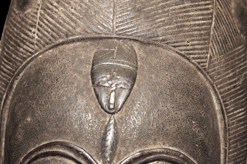 A fine Baulè people Wall mask 19 inch - 9