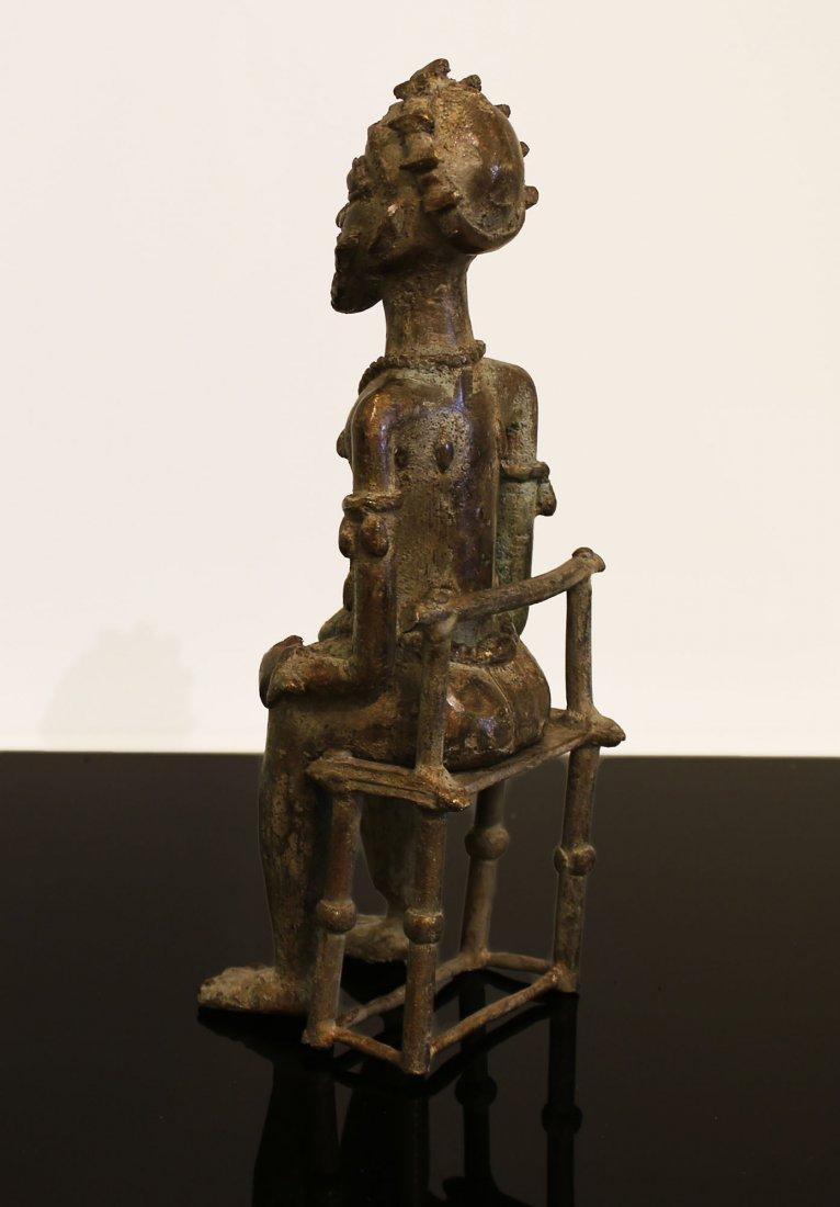 Ivory coast Bronze statue Baule man 1850 circa - 5
