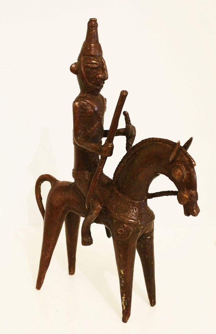 Ciad Bronze statue Warrior Sao 19th century.