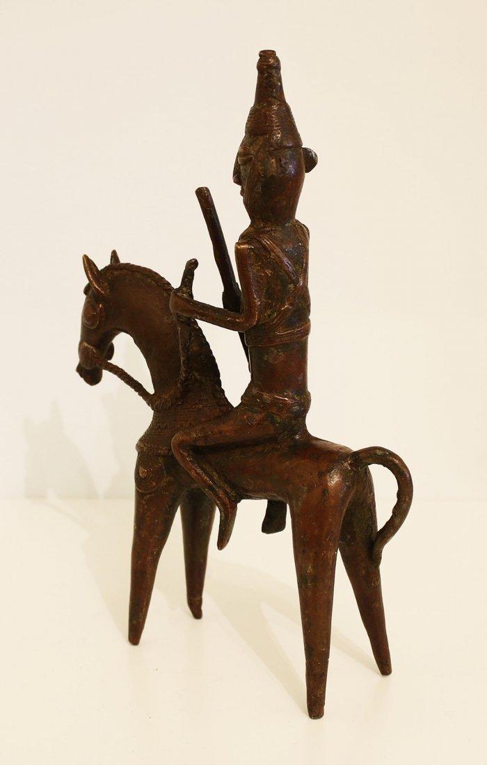Ciad Bronze statue Warrior Sao 19th century. - 3
