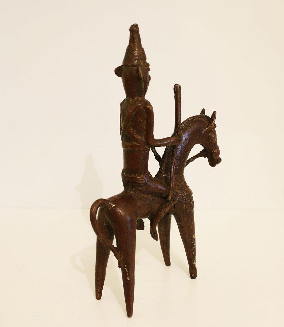 Ciad Bronze statue Warrior Sao 19th century. - 4