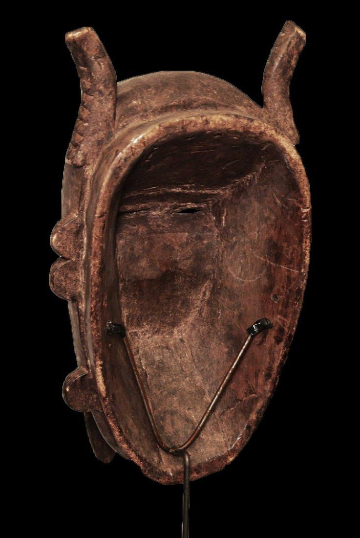 "OLD CARVED WOOD BIRD MASK BAMBARA 53cm 21"" - 5"
