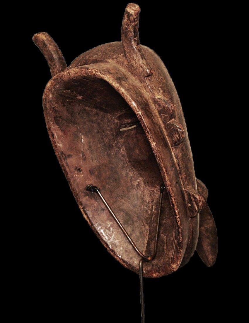 "OLD CARVED WOOD BIRD MASK BAMBARA 53cm 21"" - 6"