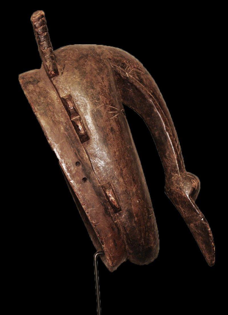 "OLD CARVED WOOD BIRD MASK BAMBARA 53cm 21"" - 7"