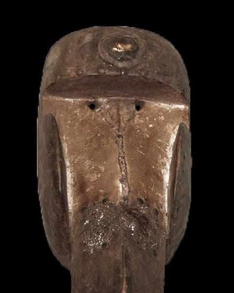 "OLD CARVED WOOD EBRIE' PEOPLE BIRD MASK 61cm 24"" - 8"
