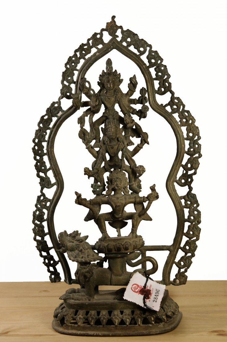 Nepal. Bronze temple statue Hari Hari Hari Vahana