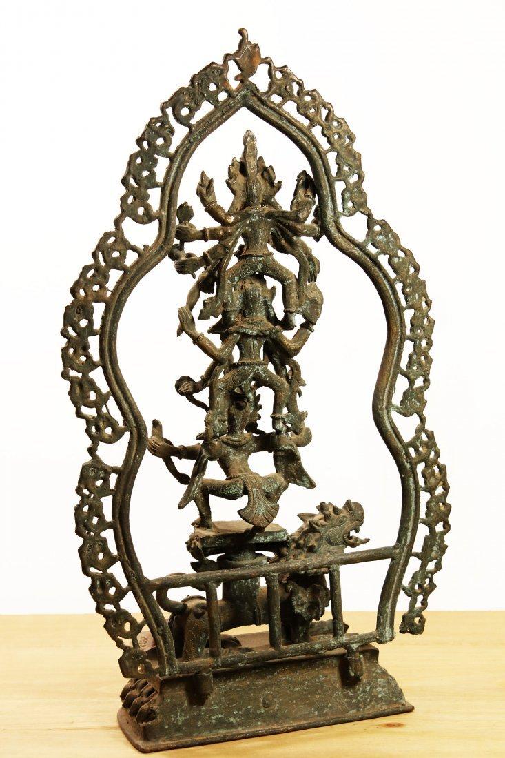 Nepal. Bronze temple statue Hari Hari Hari Vahana - 4
