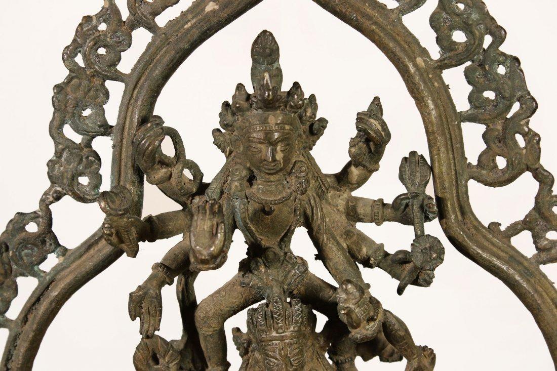 Nepal. Bronze temple statue Hari Hari Hari Vahana - 5
