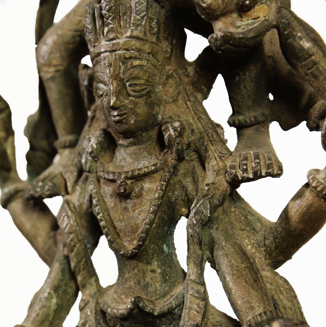 Nepal. Bronze temple statue Hari Hari Hari Vahana - 9